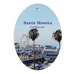 Santa Monica Ornament (Oval)