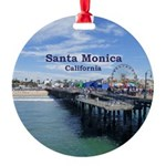 Santa Monica Round Ornament