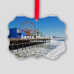 Santa Monica Picture Ornament