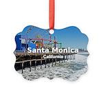Santa Monica Picture Ornament