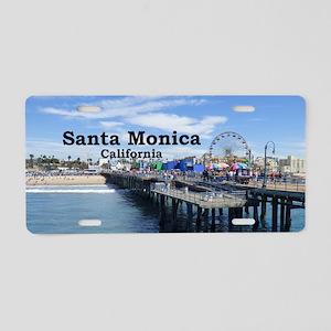 Santa Monica Aluminum License Plate