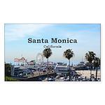 Santa Monica Sticker (Rectangle 10 pk)