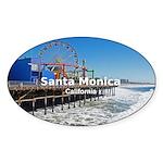 Santa Monica Sticker (Oval 50 pk)