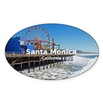 Santa Monica Sticker (Oval 10 pk)