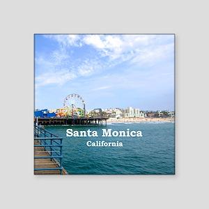 """Santa Monica Square Sticker 3"""" x 3"""""""