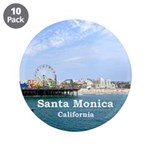 "Santa Monica 3.5"" Button (10 pack)"