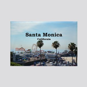 Santa Monica Rectangle Magnet