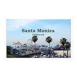 Santa Monica Rectangle Car Magnet
