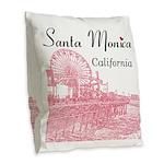 Santa Monica Burlap Throw Pillow