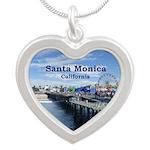 Santa Monica Silver Heart Necklace