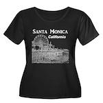 Santa Mo Women's Plus Size Scoop Neck Dark T-Shirt