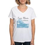 Santa Monica Women's V-Neck T-Shirt