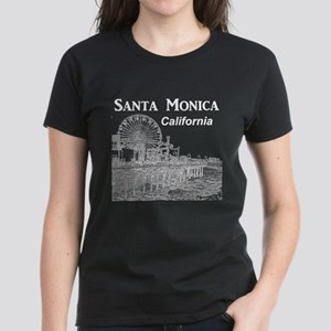 Santa Monica Women's Dark T-Shirt