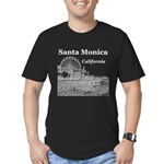 Santa Monica Men's Fitted T-Shirt (dark)