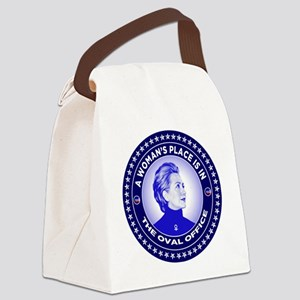 A Woman's Place is in the Oval Of Canvas Lunch Bag
