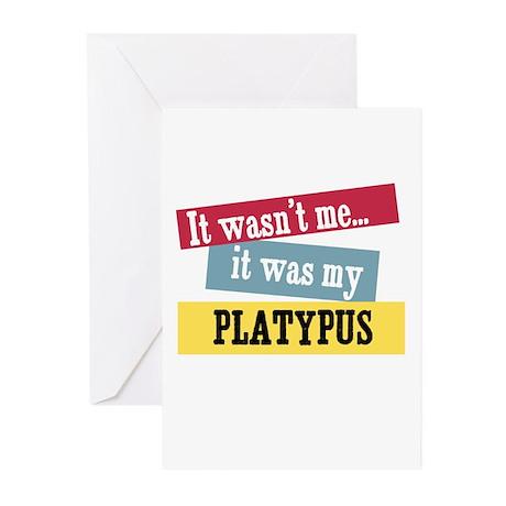 Platypus Greeting Cards (Pk of 10)