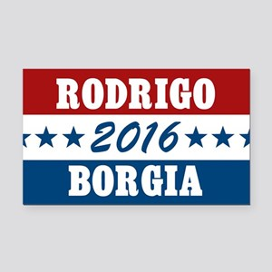 Vote Rodrigo Borgia 2016 Rectangle Car Magnet