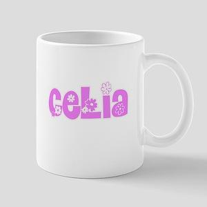 Celia Flower Design Mugs