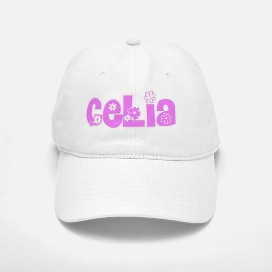 Celia Flower Design Baseball Baseball Cap