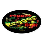 Reggae Reggae Reggae Dark Oval Sticker