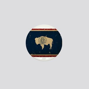 Wyoming Flag VINTAGE Mini Button