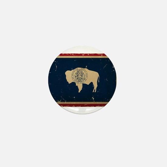 Wyoming Flag VINTAGE Mini Button