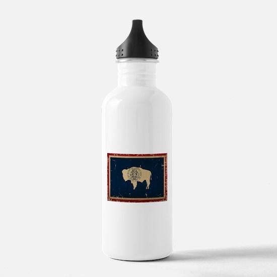 Wyoming Flag VINTAGE Water Bottle