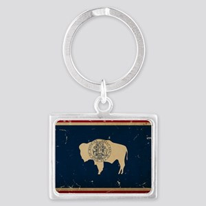 Wyoming Flag VINTAGE Keychains