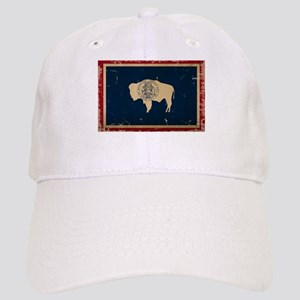 Wyoming Flag VINTAGE Baseball Cap