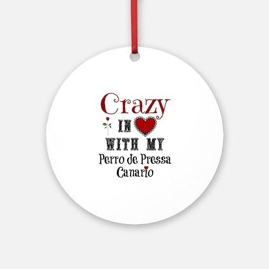 Perro de Pressa Canario Ornament (Round)