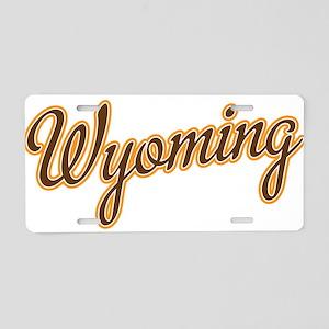 Wyoming Script Font Aluminum License Plate