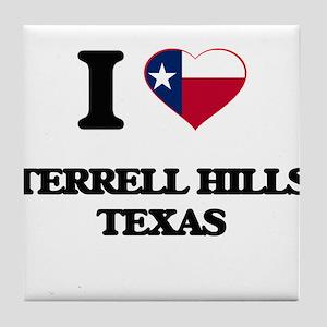 I love Terrell Hills Texas Tile Coaster