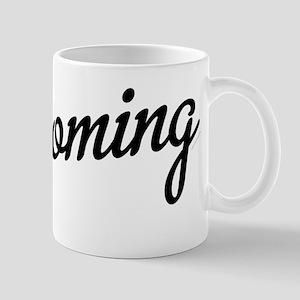 Wyoming Script Black Mug