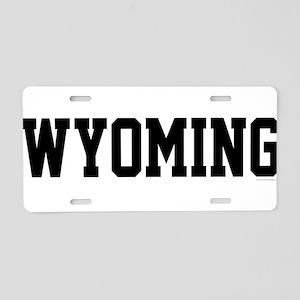 Wyoming Jersey Black Aluminum License Plate