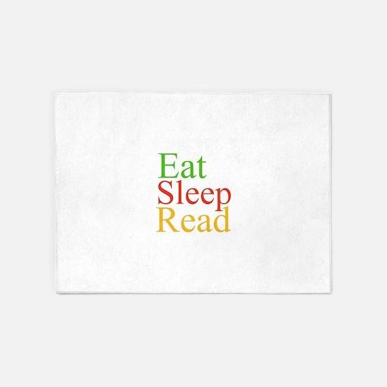 Eat Sleep Read 5'x7'Area Rug