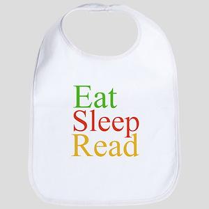 Eat Sleep Read Bib
