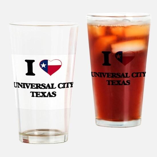 I love Universal City Texas Drinking Glass