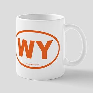 Wyoming WY Euro Oval ORANGE Mug