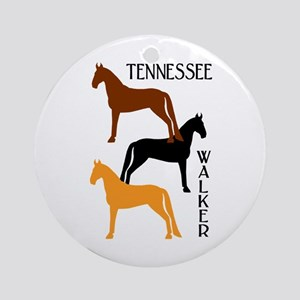Tennessee Walkers in Colors Ornament (Round)