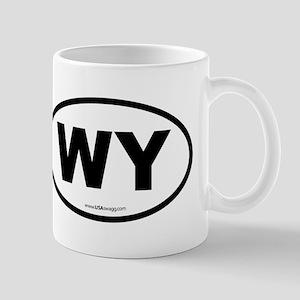 Wyoming WY Euro Oval Mug