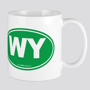 Wyoming WY Euro Oval GREEN Mug