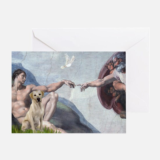 Creation & Yellow Lab Greeting Card