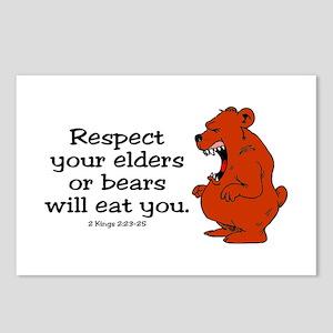 Respect Your Elders Bible Quotes Postcards Cafepress