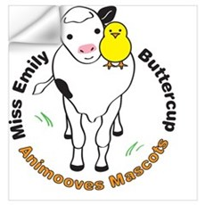 Miss Emily & Buttercup Animooves Wall Decal