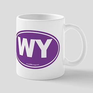 Wyoming WY Euro Oval PURPLE Mug