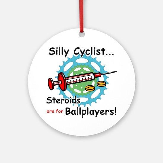 Anti-Steroid Cycling/Biking Ornament (Round)