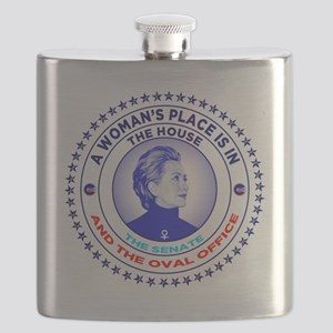 A Woman's Place is in the House the Senate a Flask
