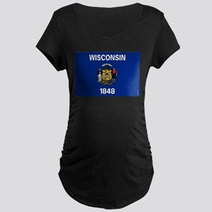 Wisconsin State Flag Maternity T-Shirt
