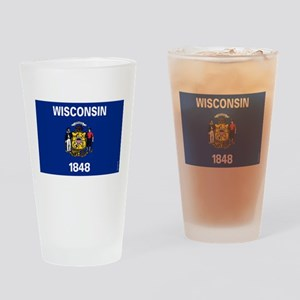 Wisconsin State Flag Drinking Glass