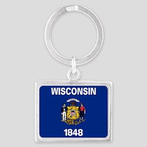 Wisconsin State Flag Keychains